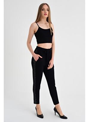 Jument Yüksek Bel Bağcıklı Dar Paça Pantolon